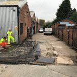 preparing the area for resurfacing