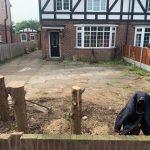 preparing this driveway for new block paving